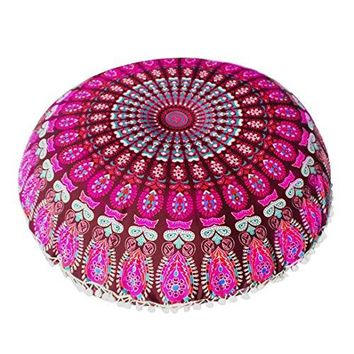 Goddessvan Large Mandala Meditation Cushion Cover
