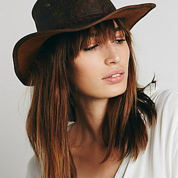 Kakadu Womens Embossed Leather Hat