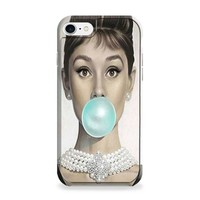 Audrey Hepburn Bubble Gum iPhone 7 | iPhone 7 Plus Case