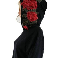 Embroidery Rose Hoodie