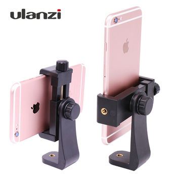 Ulanzi Tripod Mount Cell Phone Clipper Vertical Bracket Smartphone Clip Holder 360 Adapter for iPhone Facebook Live Stream Vlog