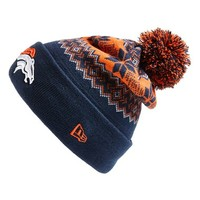Men's New Era Cap 'Snowburst - NFL Denver Broncos' Pom Knit Cap