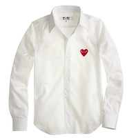 J.Crew Womens Play Comme Des Garcons Red Heart Blouse