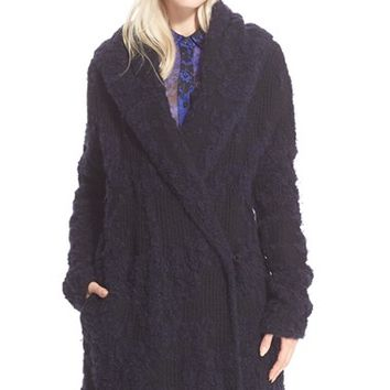 Women's Diane von Furstenberg 'Mercer' Shawl Collar Coat,