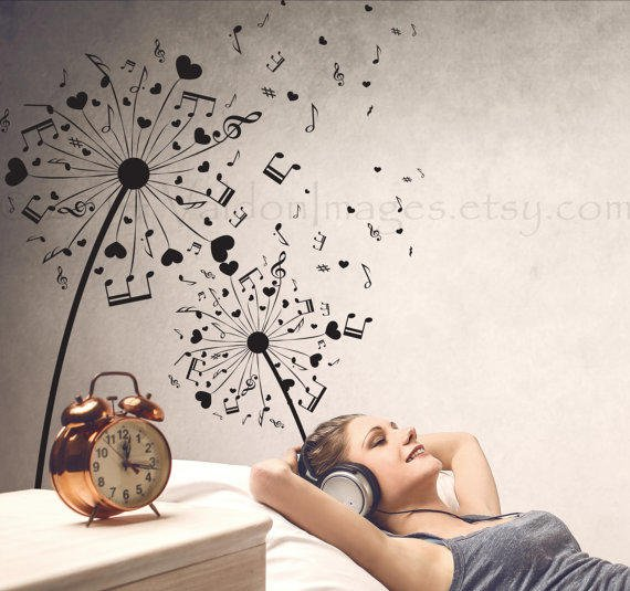 2 dandelions made out of music notes and from valdonimages on. Black Bedroom Furniture Sets. Home Design Ideas