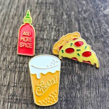 Yummy Stuff Enamel Pins