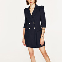 BLAZER DRESS WITH PEARL BUTTONS