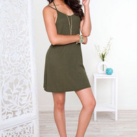 Backless Strappy Cotton Dress 11830