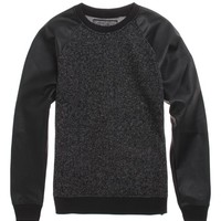 Brooklyn Cloth Raglan Crew Fleece - Mens Shirt - Black -
