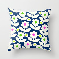 Elsa Collection Floral 2 Throw Pillow by Nathalie Robbins