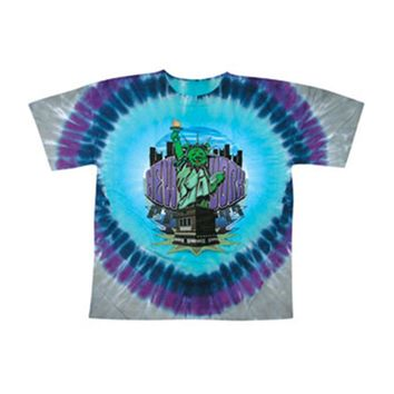 Grateful Dead Men's  New York Bears Tie Dye T-shirt Multi