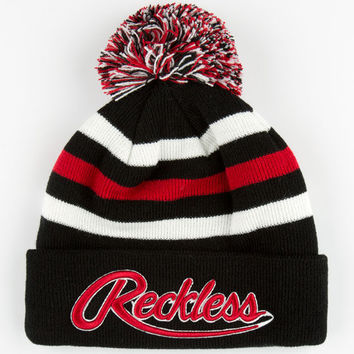 Young & Reckless Rawlins Logo Beanie Black/Red One Size For Men 24638812601