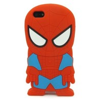 BYG Red 3D Spider-man Pattern Soft Silicone Case Cover For iPhone 4 4s/4g + Gift 1pcs Phone Radiation Protection Sticker