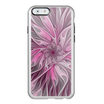 Fractal Pink Flower Dream, Floral Fantasy Pattern Incipio Feather® Shine iPhone 6 Case