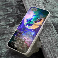 Good Bye Peter Pan Quote Galaxy - iPhone 4/4s/5/5s/5c Case - iPod 4/5 Case - Samsung Galaxy S2/S3/S4 Case - Black or White