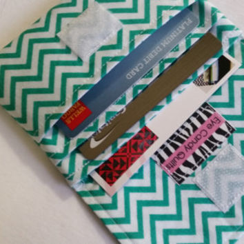 NEW! Teal Chevron Wallets for Women, Small Wallets, Teal / Green Wallets, Chevron wallets, Change Purse, Card Wallet