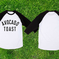 Limited  Avocado toast black Baseball T shirt, Raglan T shirt, Unisex T shirt, Adult T shirt