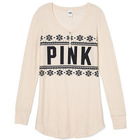 Thermal Sleep Shirt - PINK - Victoria's Secret