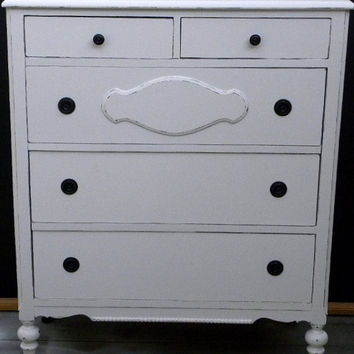 Shabby Chic vintage chest dresser distressed by InspireMeDesigns
