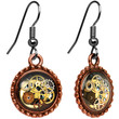 Handcrafted Steampunk Pocket Watch Movement Earrings | Body Candy Body Jewelry