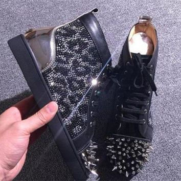 DCCK Cl Christian Louboutin Pik Pik Style #1992 Sneakers Fashion Shoes