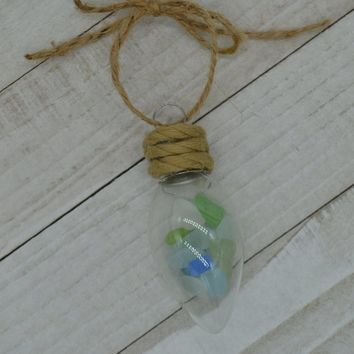 Seaglass Ornament, Beach Christmas Ornaments, Beach Lovers Gift, Beach Gifts