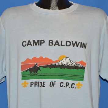 80s Boy Scouts Camp Baldwin CPC Sunset t-shirt Extra Large