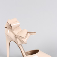 Qupid Lush Bow Mary Jane Dorsay Pump