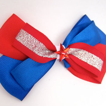 Sparkly 4th of July Hair Bow