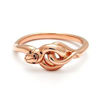 Anna Sheffield 'Small Serpent' Rose Gold Ring | Nordstrom