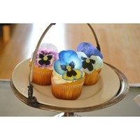 Edible Pansies - Pink, Purple, and Blue Set of 12 - Cake and Cupcake Toppers, Decoration
