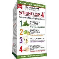 Doctor's Select Weight Loss 4 Dietary Supplement Tablets, 90 count - Walmart.com