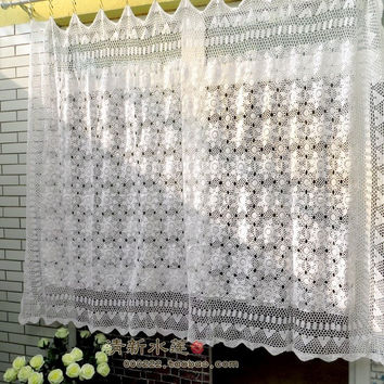 New 100% cotton crochet doilies retro styling tablecloth window curtain living room curtain fabric room decoration bedding set