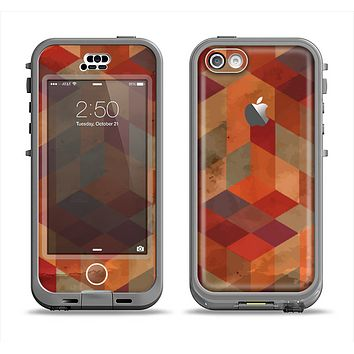 The Autumn Colored Geometric Pattern Apple iPhone 5c LifeProof Nuud Case Skin Set