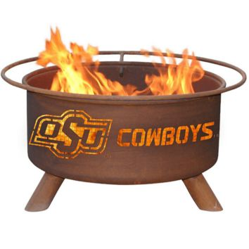 Oklahoma State Steel Fire Pit by Patina Products