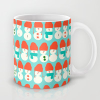 Retro Winter Collection Snowmen Mug by Nathalie Robbins