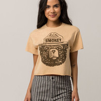MIGHTY FINE Smokey Bear Womens Crop Tee