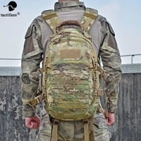 Tactical Military Backpack Hiking Outdoor Hunting Bag EDC Tactical Gears Laser Cut Molle PALS Multicam Bag 25L Camping Sport Bag