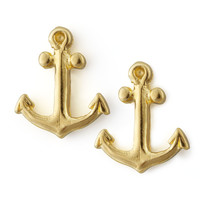Golden Anchor Stud Earrings - Dogeared