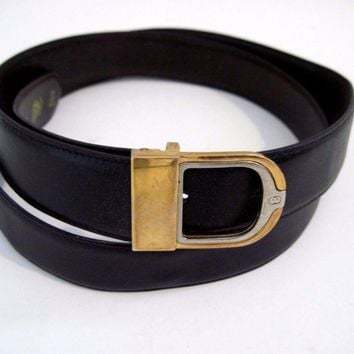GUCCI Very Nice Vintage Brown Belt w/ Gold Belt Buckle Size