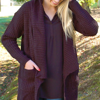 Wrapped Up In You Cardigan-Black