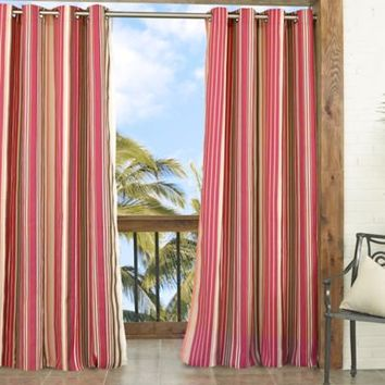 Parasol Windley Key Stripe Indoor/Outdoor Window Curtain Panel