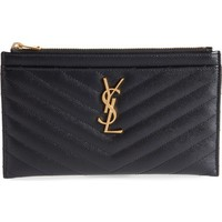 Saint Laurent Monogram Leather Bill Pouch | Nordstrom
