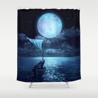 Set Adrift Shower Curtain by Soaring Anchor Designs | Society6