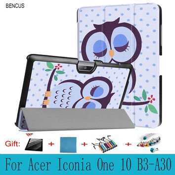 "BENCUS  Acer Iconia One 10 B3-A30 , Folio Stand Cover Magnetic Flip PU Leather Shockproof 10"" Case For Acer Iconia One 10 B3-A30"