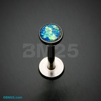 Opal Glitter Shower Dome Steel Labret