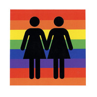 Rainbow Female Symbol Sticker