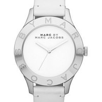 Marc by Marc Jacobs Watch, Women's White Leather Strap 40mm MBM1200 - Women's Watches - Jewelry & Watches - Macy's