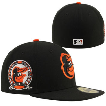 New Era Baltimore Orioles Patched Team 59FIFTY Fitted Hat - Black