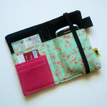 iPhone wallet iPhone case smartphone wallet cell by TLCPouches